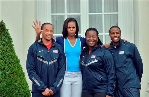 Olimpiyat takımının lideri Michelle Obama!