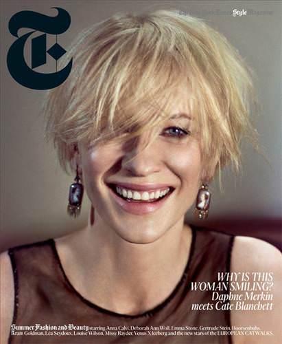 Cate Blanchett, NYT Magazine'e kapak oldu