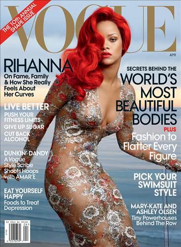 Rihanna Vogue'a poz verdi