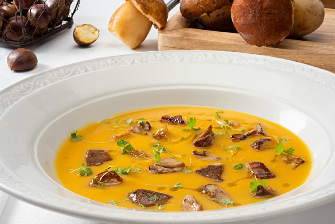 Kestaneli Balkabağı Çorbası
