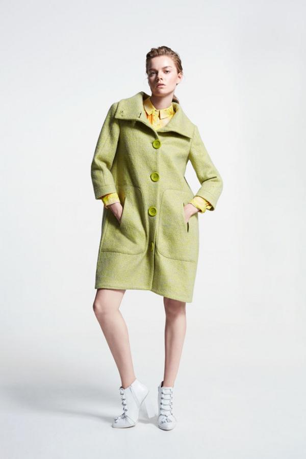 Fıstık Yeşili Koza Palto