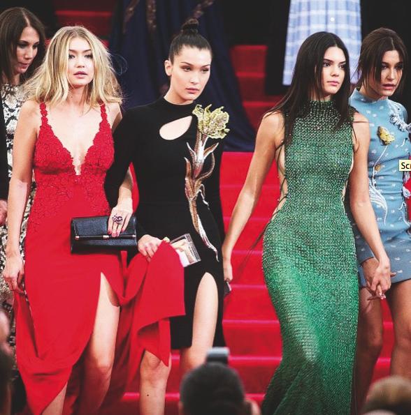 Gigi Hadid, Bella Hadid, Kendall Jenner, Hailey Baldwin