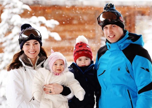 Düşes Kate Middleton, Prens William, Prens George ve Prensen Charlotte
