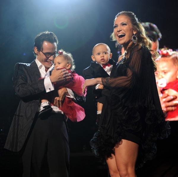 Marc Anthony, Jennifer Lopez  ve çocukları Max & Emme