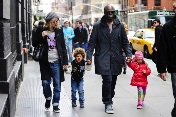 Heidi Klum, Seal, oğulları Henry Samuel ve kızları Leni Klum