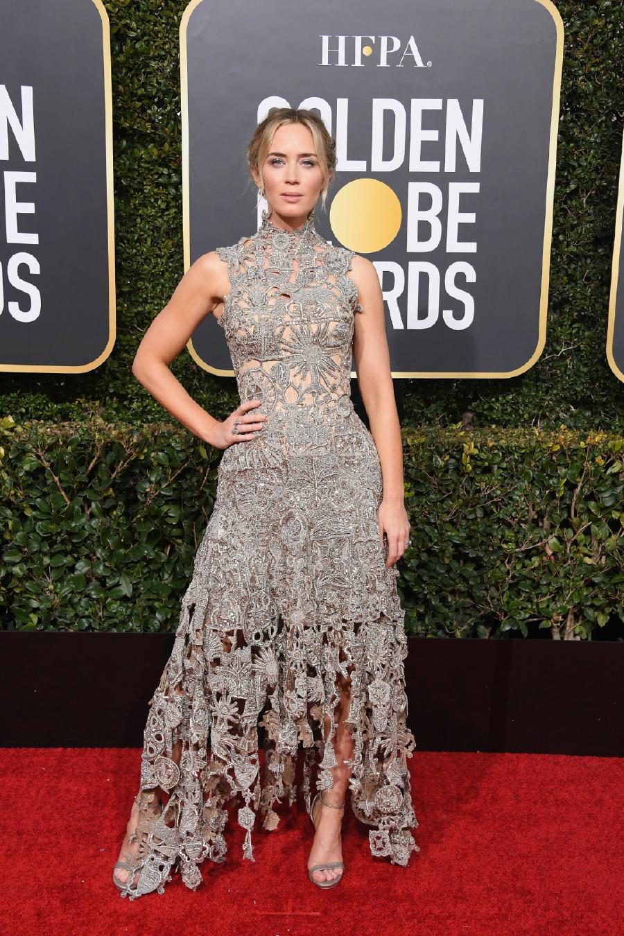 Emily Blunt, Elbise: Custom Alexander McQueen