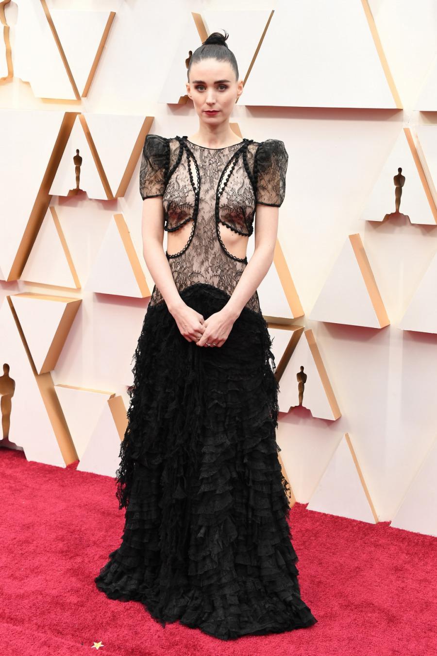 Rooney Mara, Elbise: Alexander McQueen