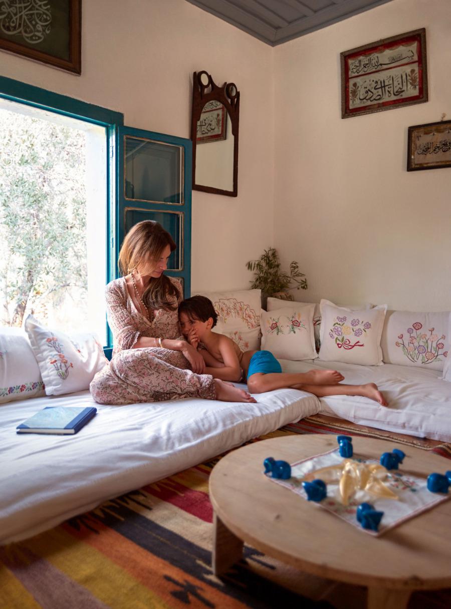 Alessandra Lanvin ve oğlu
