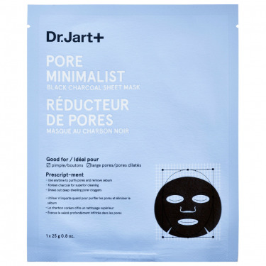 Dr.Jart  Pore Minimalist Black Charcoal Sheet Mask