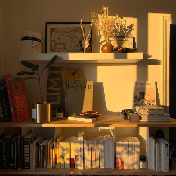 Kalabalık bir kitaplık