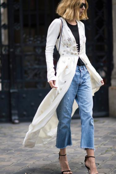 Boru Kesimli Jean + Kimono