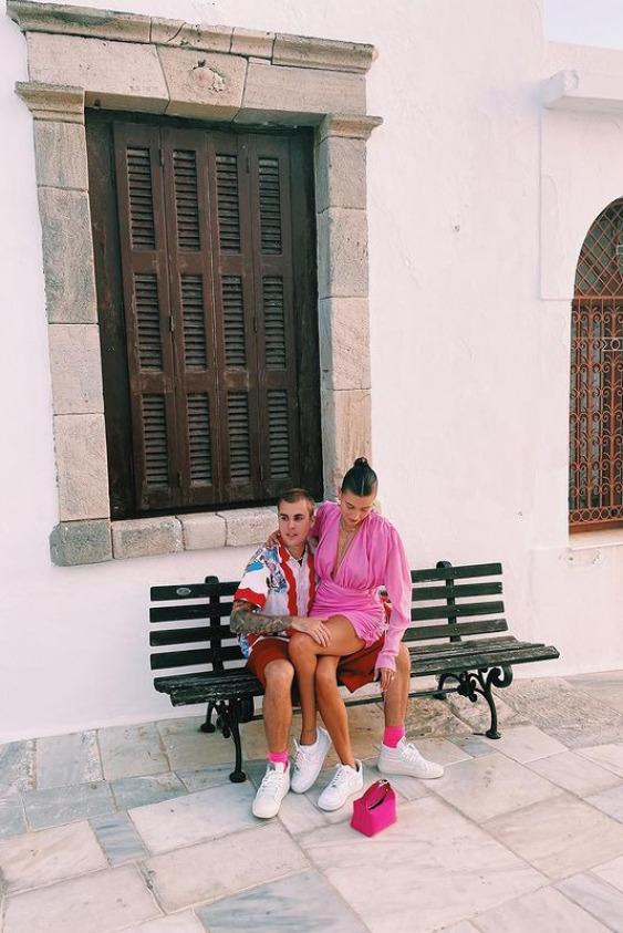 Hailey ve Justin Bieber'ın Yunanistan Tatili