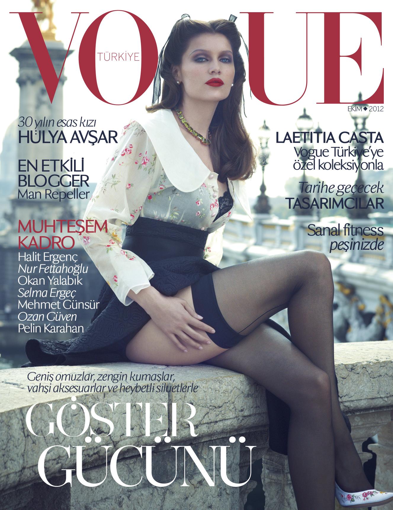 Vogue Türkiye'ye özel koleksiyonla Laetitia Casta