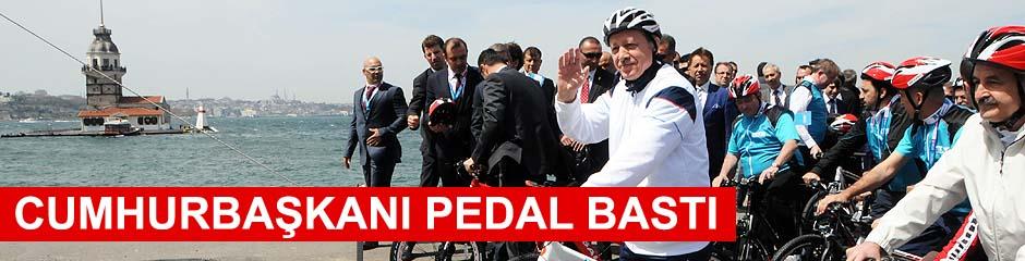 Cumhurbaşkanı PEDAL BASTI